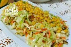 Turşulu Mısırlı Beyaz Lahana Salatası Tarifi