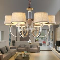 Crystal Chandeliers 6 Lights Fashion Painting Metal 220V – USD $ 269.99