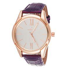 Xtreme Via Nova Women's Rose Case / Purple Strap Watch