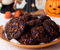Halloween Chocolate Chocolate Chip Cookies