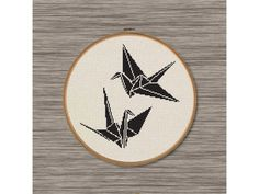 PDF Cross Stitch Pattern: 2 Paper Cranes by DJStitches on Etsy