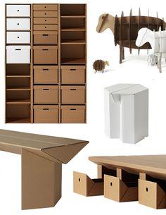 Cardboard furniture from Karton. Design by Hans-Peter Stange, Berlin