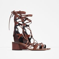 Pin for Later: The 17 Zara Pieces You'll See Fashion Girls Wearing Everywhere This Summer  Lace-Up Leather Sandals ($139)