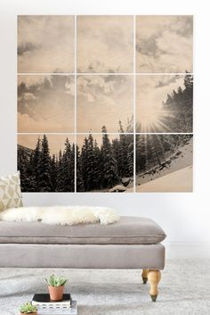 Buy Wood Wall Mural with White Mountain designed by Bird Wanna Whistle. One of many amazing home décor accessories items available at Deny Designs. Dorm Room Art, Mountain Designs, Buy Wood, Home Look, Home Decor Accessories, Wood Wall, Wall Murals, Home Furnishings, Tapestry