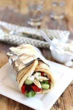 Greek Chicken Gyros with Tzatziki Sauce {Recipe ReDux} | Craving Something Healthy