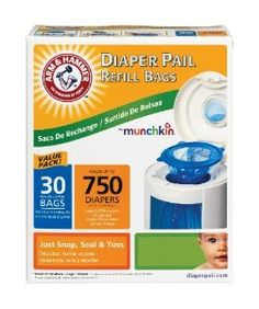 Munchkin Arm & Hammer Diaper Pail Refill Bags,  30-Count  for more Detail visit our website: http://premiumhealthproducts.com/