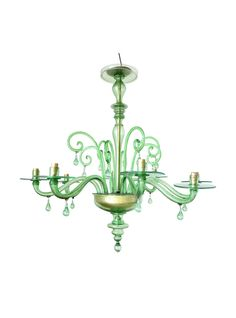Traditional 8 arms 1930s Venetian Chandelier by Venini