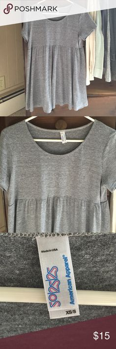 AA t-shirt dress Gray cotton t-shirt dress from American Apparel. Only worn and washed a few times; great condition. American Apparel Dresses