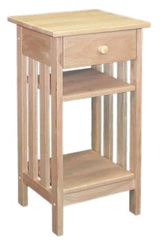 Tall Side Table From Our Solid Wood Mission Possible Collection. Just The  Right Side For