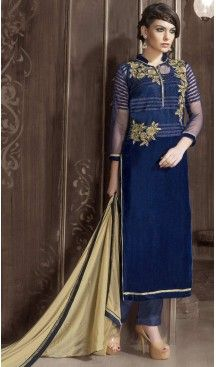 Navy Blue Color and Velvet Fabric Party Wear Stitched Salwar Suit with Matching #heenastyle , #salwar , #kameez , #suits , #anarkali , #party, #wear , #panjabi , #patiyala , #abaya , #style , #indian , #fashion , #designer , #bridel , #evening , #formal , #office , #deaily , #dupatta , #churidar , #palazo , #plazzo , #nerrow , #pant , #dress , #dresses , #fashion , #boutique , #mode , #henna , @heenastyle , #latest , #gowns , #pakistani , #readymade , #stitched , #plus , #size , #islamic
