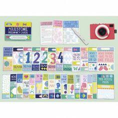 Le pack de 30 cartes préimprimées par Milestone baby cards est un cadeau très…