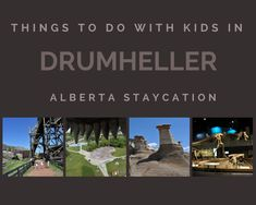 Drumheller is filled with family-friendly things to do and see.Drumheller is only 90 minutes from Calgary making it a perfect distance for a day trip. Drumheller Alberta, Modern Playground, World Discovery, Spray Park, Stuff To Do, Things To Do, Underground Tour, Coal Mining, Best Hikes