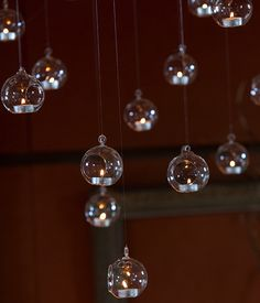 Glass Baubles from Get Knotted Wedding Hire Collection