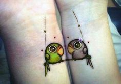 20 Matching Couple Tattoos For Lovers That Will Grow Old Together Best Couple Tattoos, Best Friend Tattoos, Sister Tattoos, Love Tattoos, Unique Tattoos, Beautiful Tattoos, Small Tattoos, Tattoos For Women, Tattoos For Sisters
