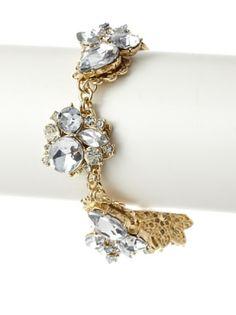 65% OFF Leslie Danzis Ornate Crystal Encrusted Bracelet #jewelry #Women