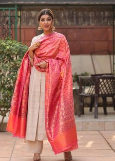 Thank you for this beautiful outfit. Check out more wedding inspired looks on Link:… Indian Attire, Indian Wear, Indian Outfits, Indian Dresses, Indian Clothes, Indian Look, Dress Indian Style, Indian Ethnic, Latest Anarkali Designs