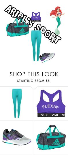 """ARIEL'S SPORT"" by mariapizzuto on Polyvore featuring moda, Disney, WearAll, Victoria's Secret, Saucony Originals e adidas"