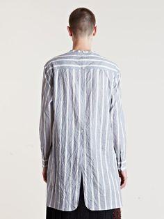 Yohji Yamamoto Men's Striped Tunic Shirt