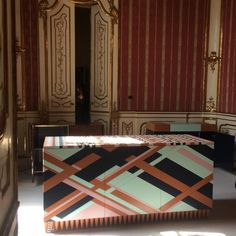 The 'Ziggy' cabinet by Brazilian brand Leo Di Caprio as seen at A Matter of Perspective show in Palazzo Litta. The cabinet is realized in lacquered solid timbers. #salonedelmobile2016#salone2016#designdaily#leodicapriofurniture#matterofperspective#palazzolitta