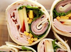 Gourmet Turkey Pinwheel Rolls with Apple, Cheddar and Hillshire Farm Naturals Lunchmeat #HillshireNaturals #sponsored