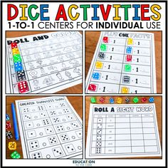 """Here's what's inside: 💠 Add it Up 🤩 Roll and Add 💠 Addition with Dice 🤩 Four in a Row 💠 Roll and Dot 🤩 Graphing Dice 💠 Roll and Subtract Even or Odd 🤩 Greater Than/Less Than 💠 Roll and Subtract 🤩 Plus One Facts 💠 Roll to 100 🤩 Real or Nonsense 💠 Ten Plus Facts 🤩 Roll a Sight Word 💠 Roll and Add Even or Odd """"I sent this home with kids and they loved doing them together in meets."""" Jill P. Let us know if you have any questions! 💗-Emily and Team Education to the Core"""