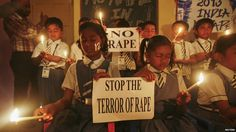 While cities around the world jubilate with fireworks on 31/12/12, students in Ahmedabad hold a candlelit vigil: Stope the terror of rape