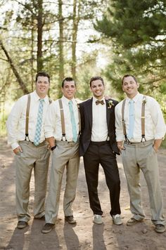 Groomsmen with mix + match ties, photo by BraedonsBlog.com. Ben what do you think?!