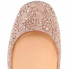 All You Need is Love And Christian Louboutin Gozul Strass Ballerinas Nude DFD! Sparkle Flats!