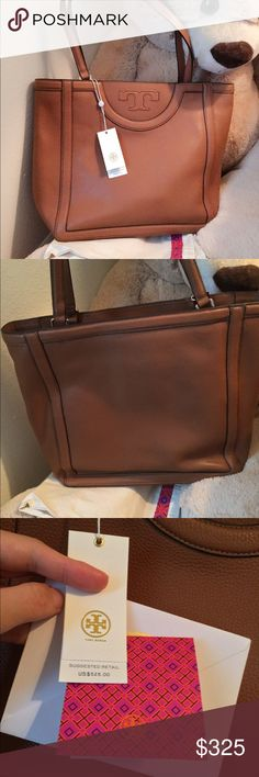 """Tory burch serif tote Authentic and dust bag. 12.6""""(H)x 12.6""""(W) Tory Burch Bags Totes"""