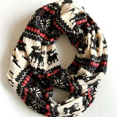 CHRISTMAS SALE! The Nordic Scarf™ - Christmas Red, Holiday Scarf, Winter Scarf…