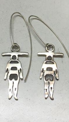 Aros de plata selknam AR0158