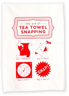 The art of tea towel snapping