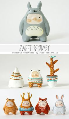 Sweet Bestiary - Art dolls, puppets, figurines and miniatures made by Flor Panichelli.