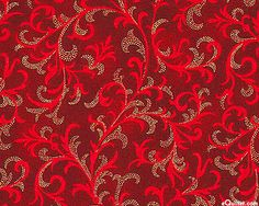 Pear Tree Greetings - Winter Vines - Lacquer Red/Gold