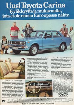 toyota_carina_TM_3_1978 | Flickr - Photo Sharing! Toyota Carina, Tundra Trd, American Motors, Car Advertising, Twin Turbo, Retro Cars, Buick, Old Cars, Concept Cars