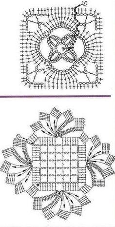 Motive de tricotat pătrați