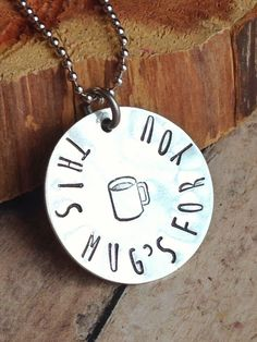 Coffee Lover Necklace - Hand Stamped Jewelry - This Mug's for You - Custom Necklace - Gift for Coffee Lover - pinned by pin4etsy.com