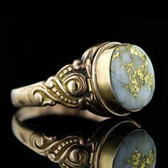 Rosamaria G Frangini | High Antique Jewellery | Victorian Gold Quartz Locket or Poison Ring (Lang Antiques)