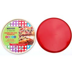 casaWare Ceramic Coated Non-Stick Pizza Pan (Cream/Red) * Check this awesome image : Baking pans Souffle Dish, Ceramic Non Stick, Ceramic Coating, Baking Recipes, Baking Ideas, Pizza Pan, Baking Pans, Ceramics