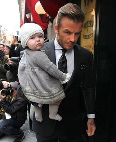 david beckham and daughter. <3