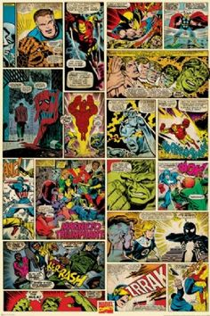 Marvel - Comic Collage  http://postermania.com.mx/product_info.php?products_id=2222
