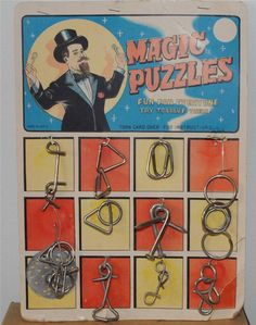 MAGIC PUZZLES (metal brain teaser puzzle) ... Our family loved these puzzles. Used to get them in our Christmas stockings or they were prizes at our birthday parties.