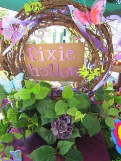 pixie hollow wreath for Lexi