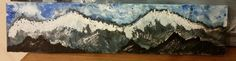 """mountains"" - martha stewart craft paint on scrap wood from ikea - original painting by jean@magpiehollow.com"