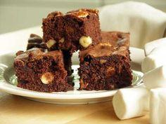 Boston Brownies (mit Marshmallows) Awesome mit Deutschen Gewichtsangaben.