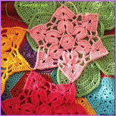 summer garden crochet star motif