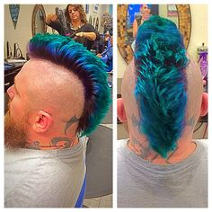 Purple and Blue Mohawk