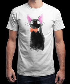 """""""Watercolor Cat"""" is today's £9/€11/$12 tee for 24 hours only on www.Qwertee.com Pin this for a chance to win a FREE TEE this weekend. Follow us on pinterest.com/qwertee for a second! Thanks:)"""