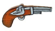 Pistola pirata hecha con cartón / Pirate Pistol made of cardboard