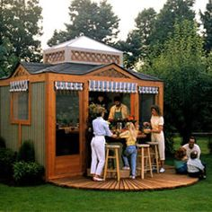 This Outdoor Kitchen Pavilion can be built in one weekend with this set of FREE WOOD PLANS. Make it easy with our step by step guide. This is part of our FREE SHED AND WOODWORKING plans collection, and is available for Instant Access from our site.